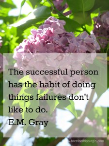 Critical Success habit...