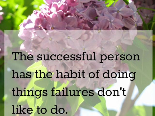 Successful Person's most important habit….