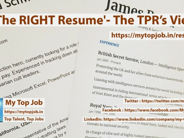 The RIGHT Resume' – The TPR's view